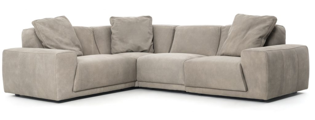 Napoli leather sectional
