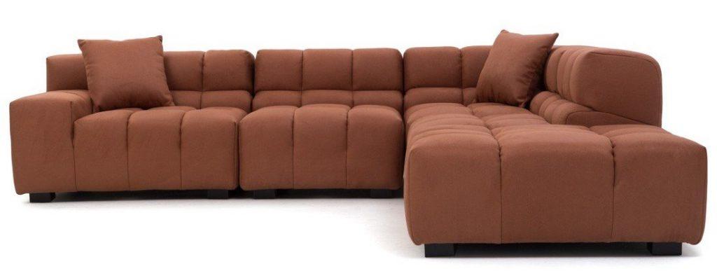 Norika Sectional Sofa in Mircrofibre fabric