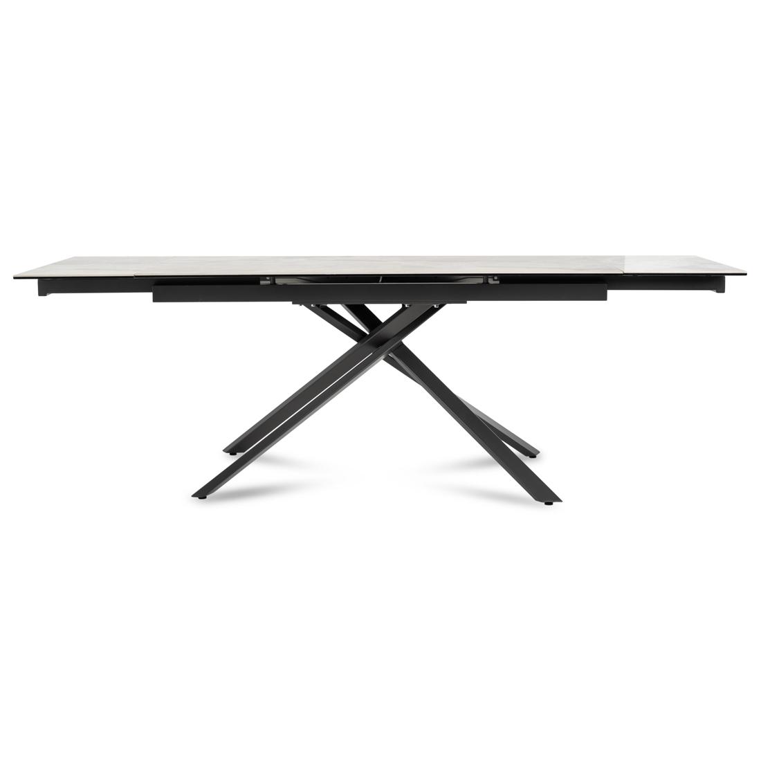 Table Winston avec plateau en céramique effet marbre