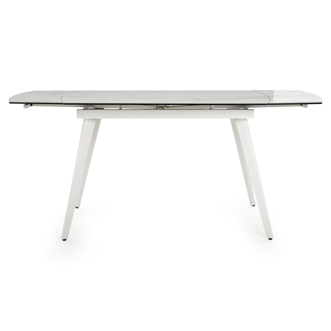 Table dinette Wimzy avec plateau en céramique effet marbre