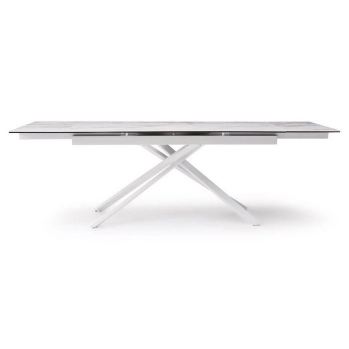 Table Wimzy avec plateau en céramique effet marbre