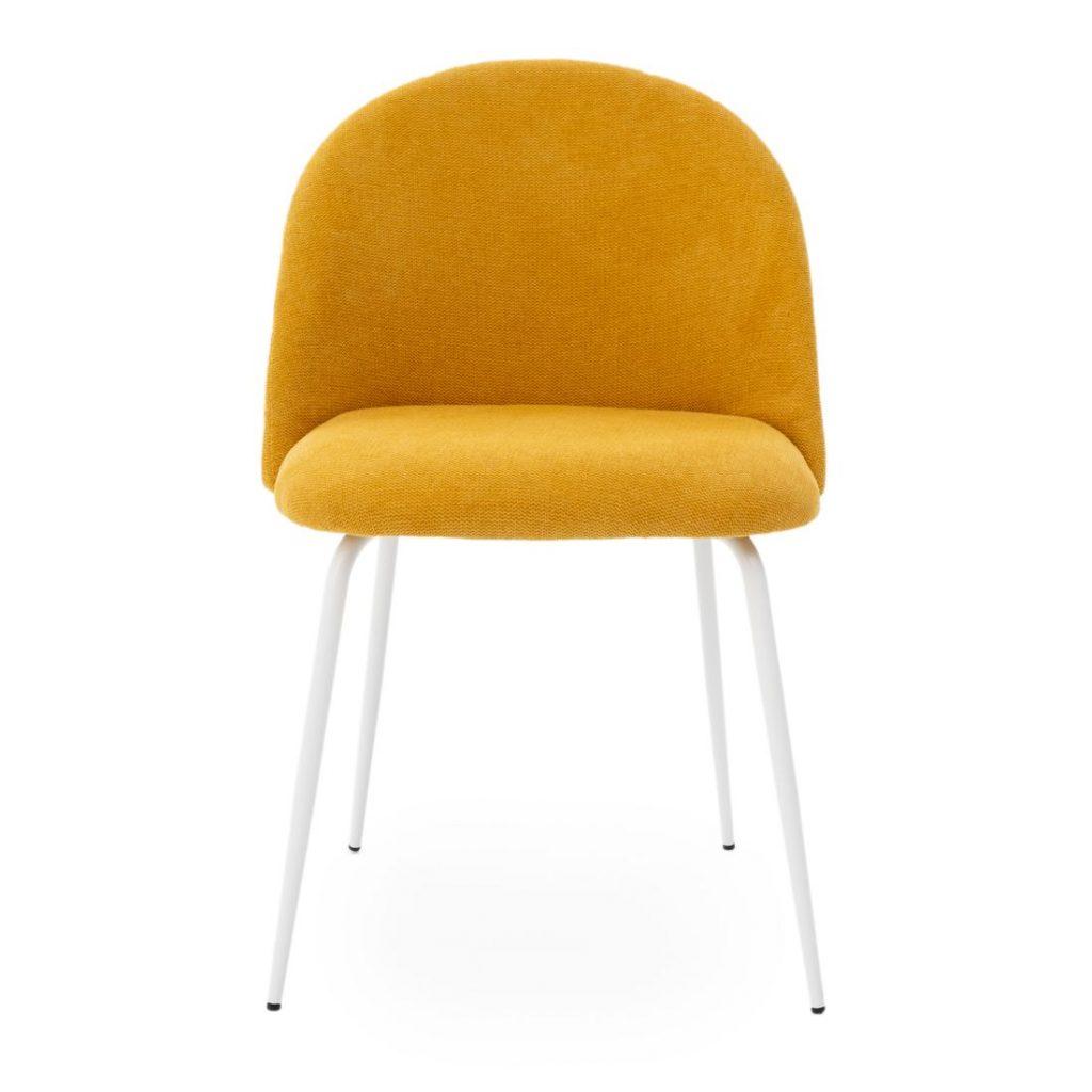 Erika chaise en tissu jaune