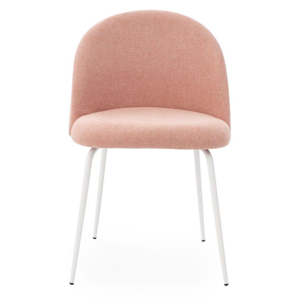 Erika chaise en tissu rose