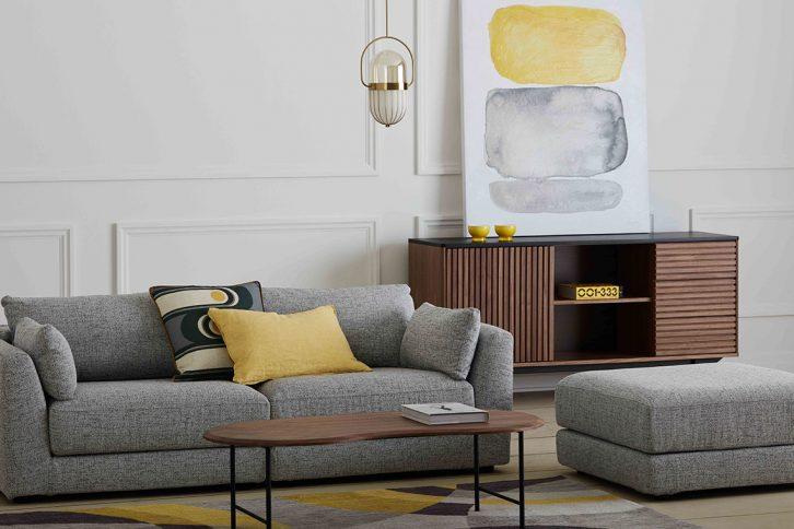 Couleurs Pantone 2021 - Gris et jaune chez Mobilia